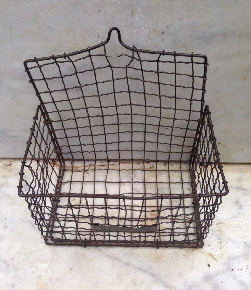 C 1900 wire basket with label - 2