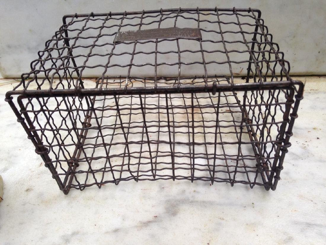 C 1900 wire basket with label - 4