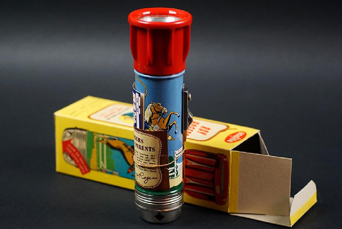 VINTAGE ROY ROGERS SIREN FLASHLIGHT –MIB - 4
