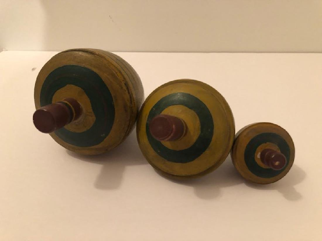 Wooden Spinning Tops - 3