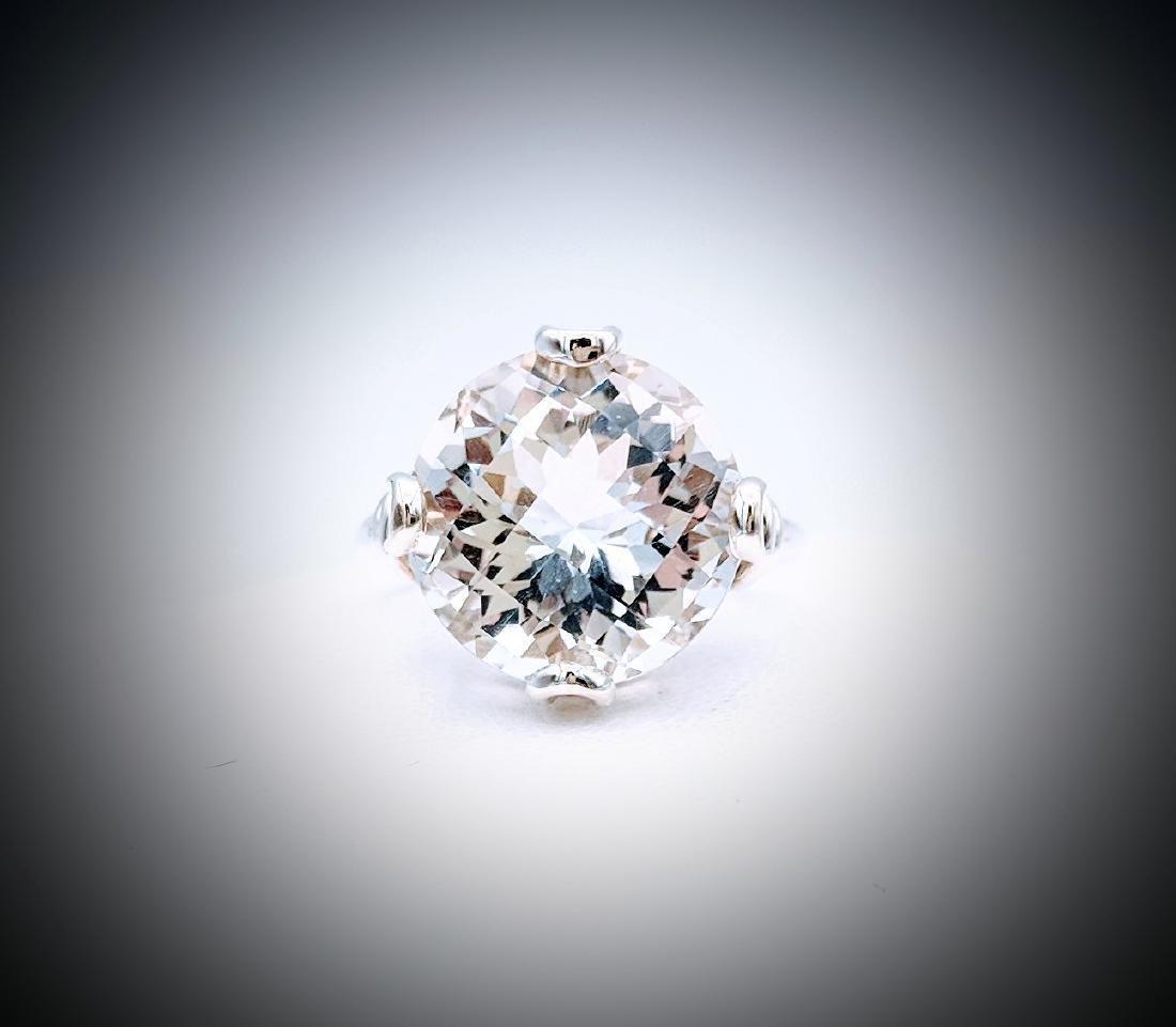 Sterling Silver Sz 7 Goshenite Ring