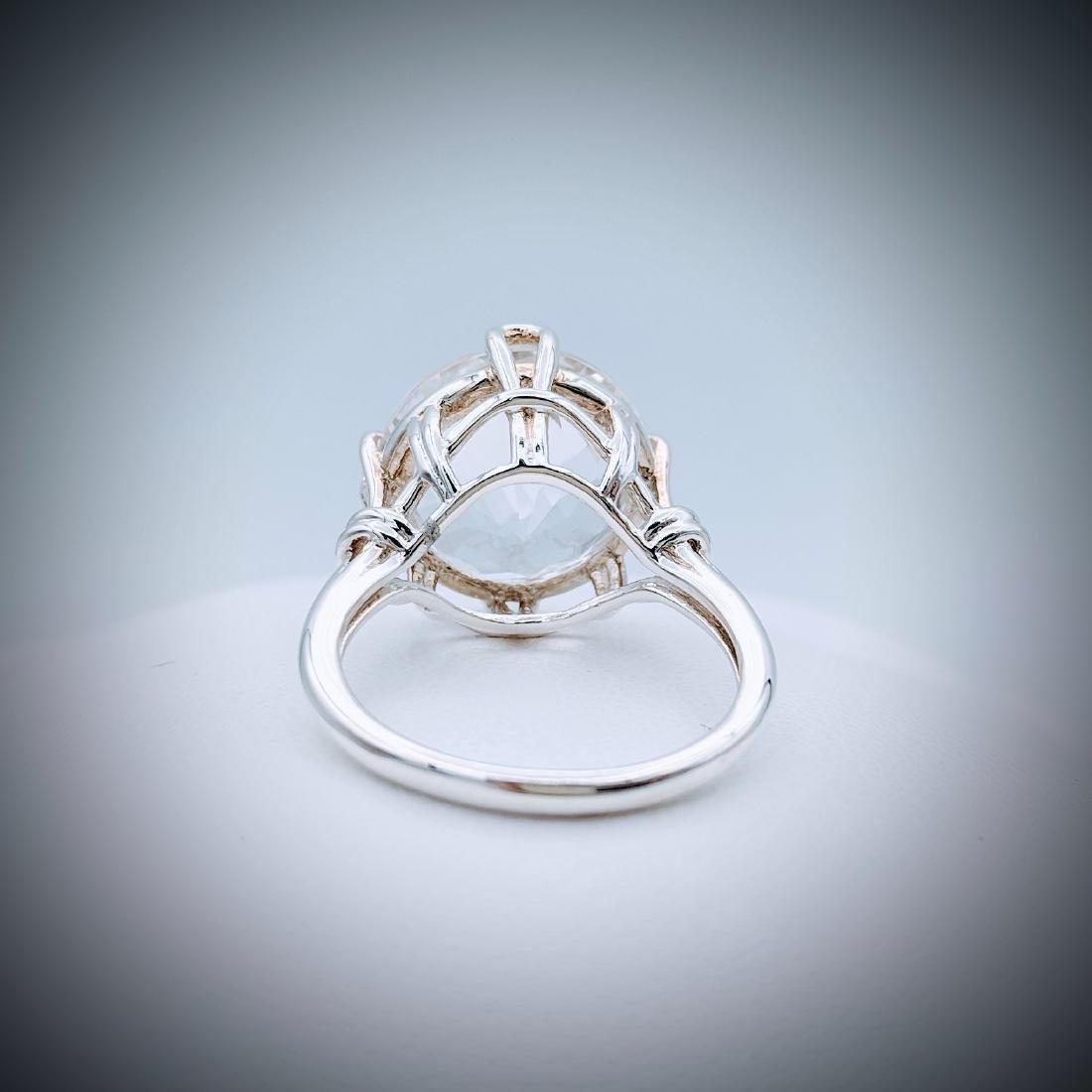 Sterling Silver Sz 7 Goshenite Ring - 2