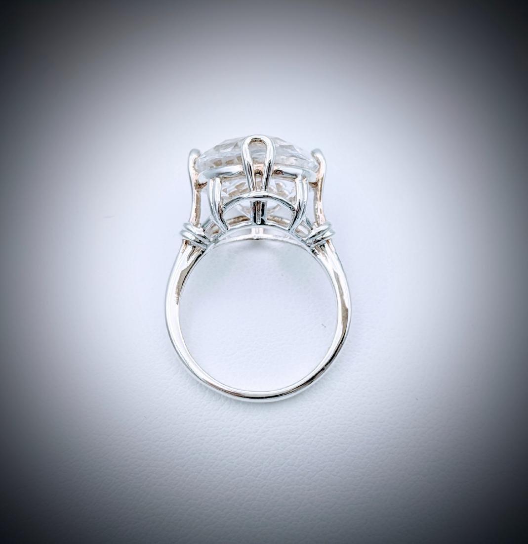 Sterling Silver Sz 7 Goshenite Ring - 3