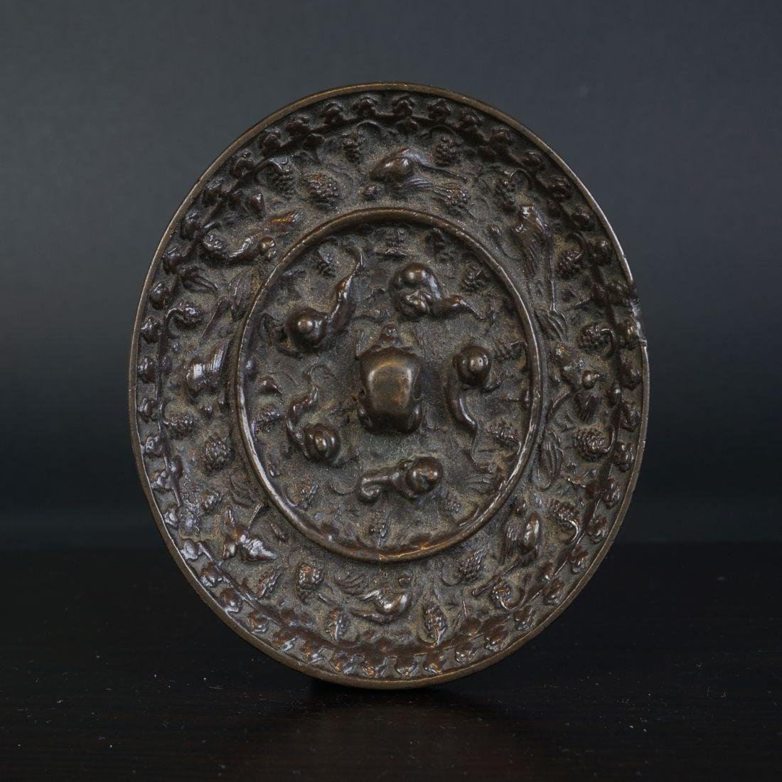 Very special antique Chinese bronze Miror Tang Dynasty