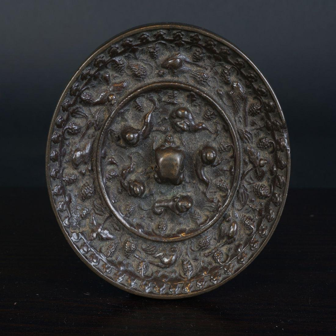 Very special antique Chinese bronze Miror Tang Dynasty - 2