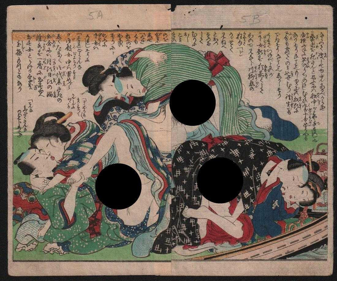 Kunisada Woodblock Shunga: Orgy
