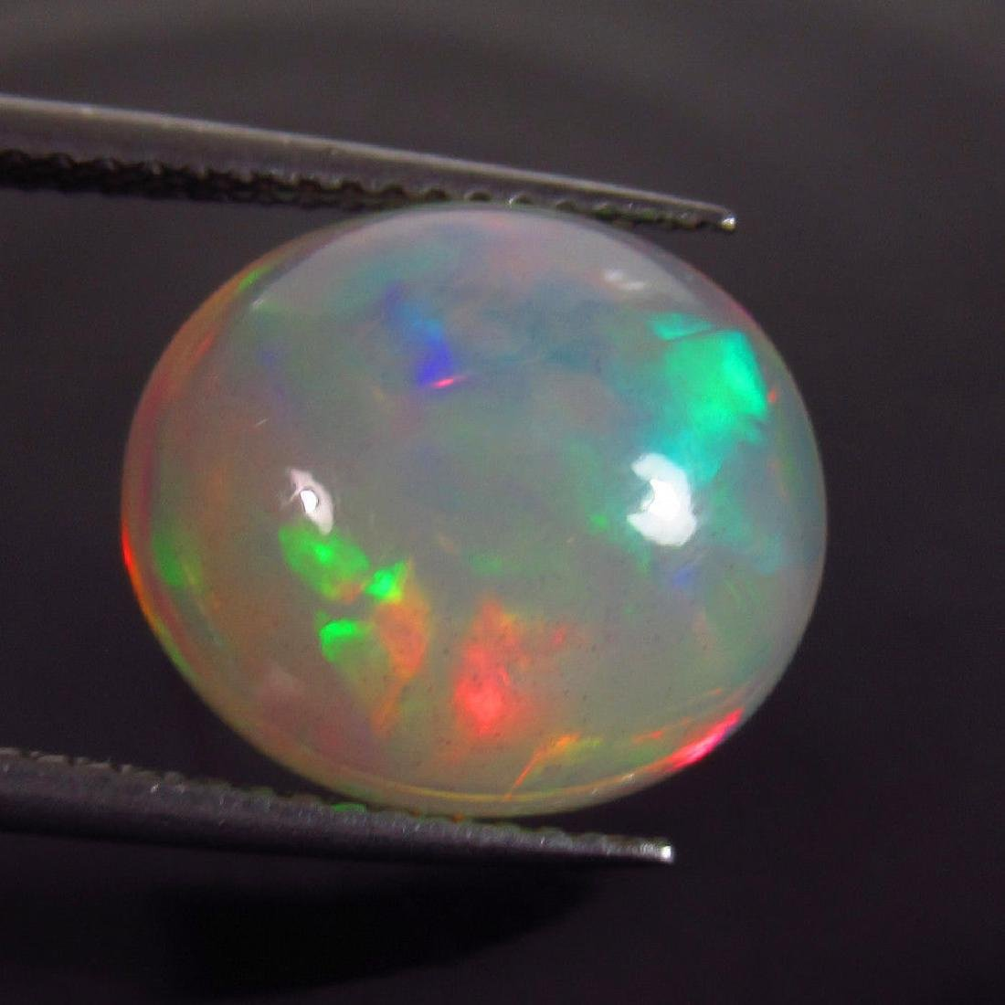 5.90 Ct Natural Ethiopian Opal Multi-Color Fire Oval