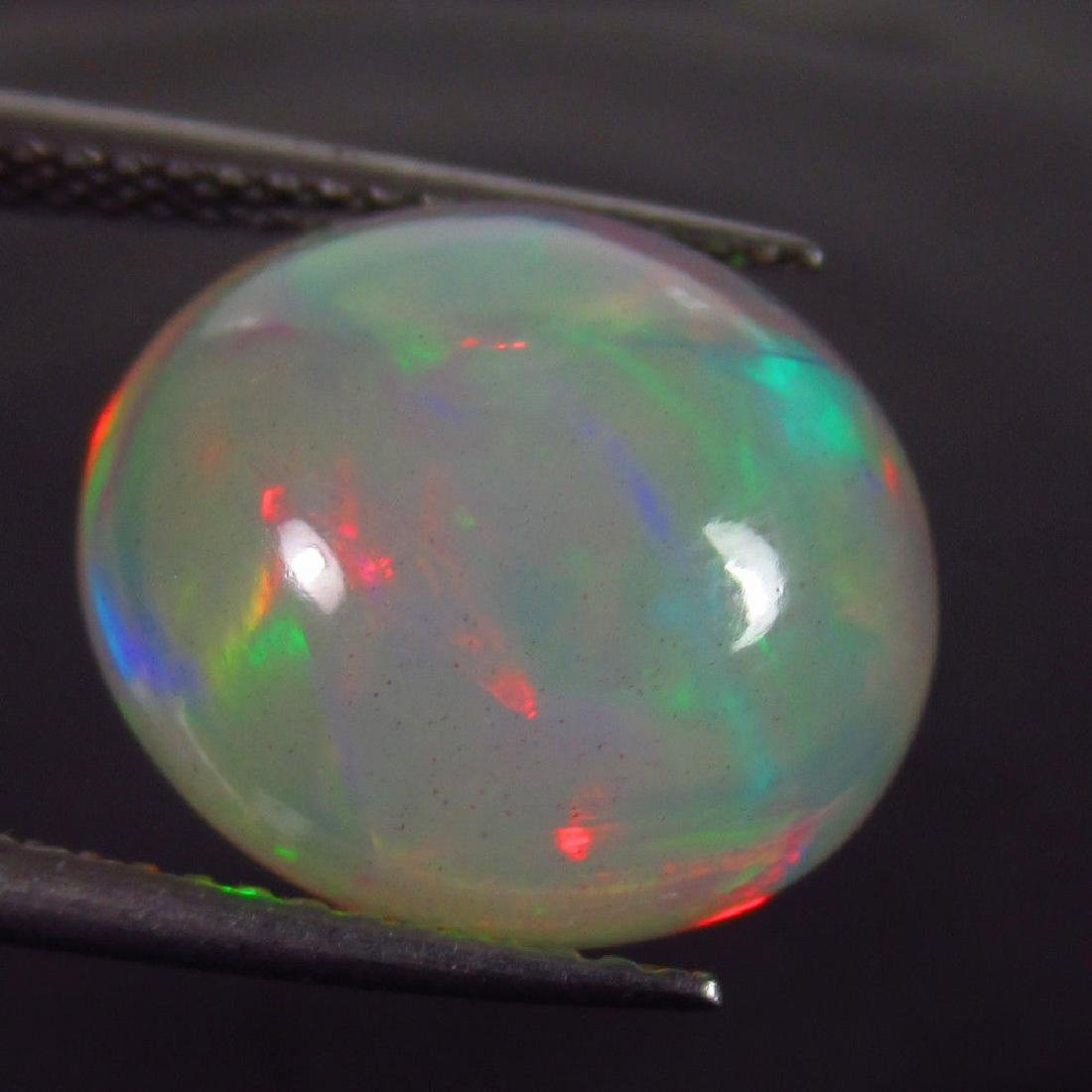 5.90 Ct Natural Ethiopian Opal Multi-Color Fire Oval - 3