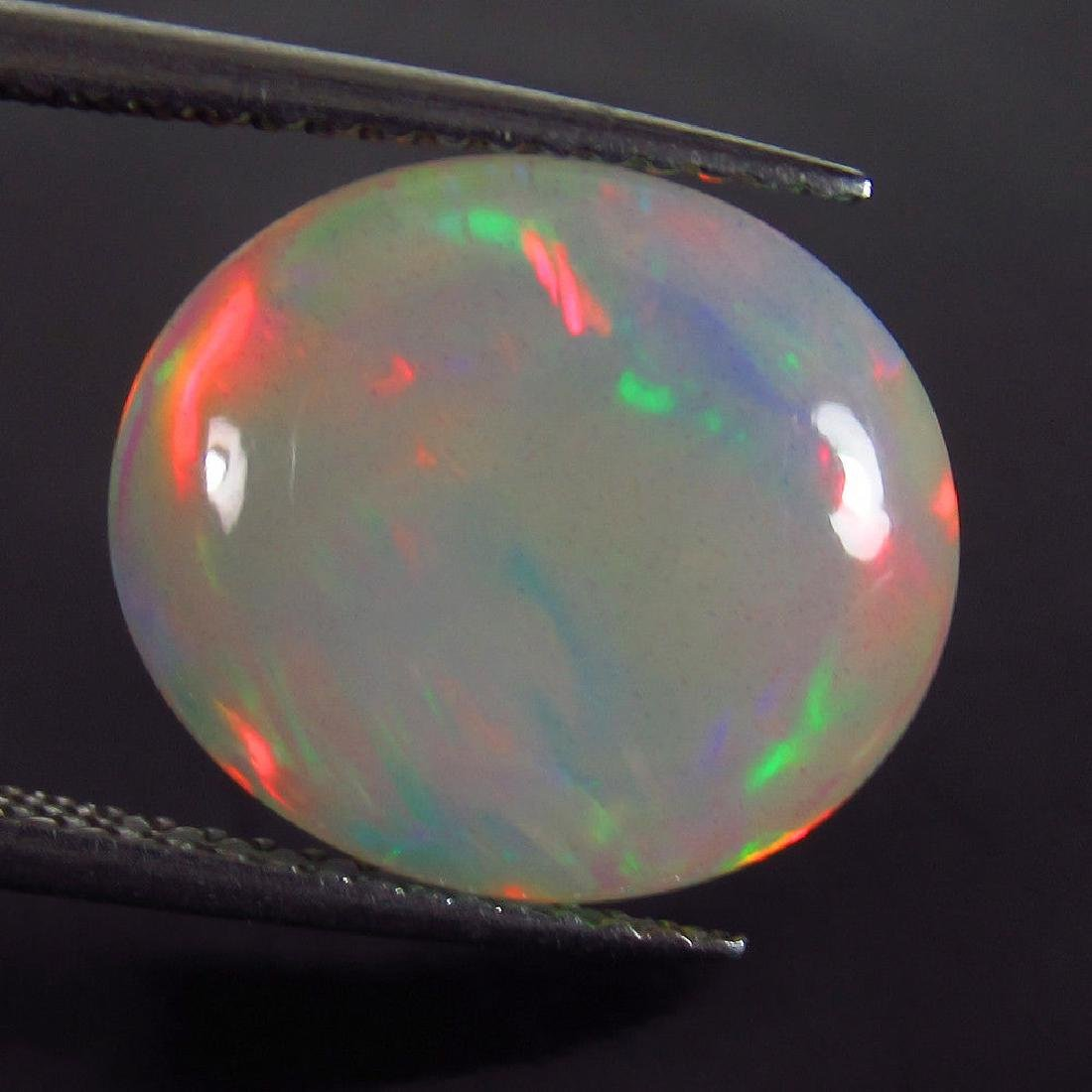 5.90 Ct Natural Ethiopian Opal Multi-Color Fire Oval - 4