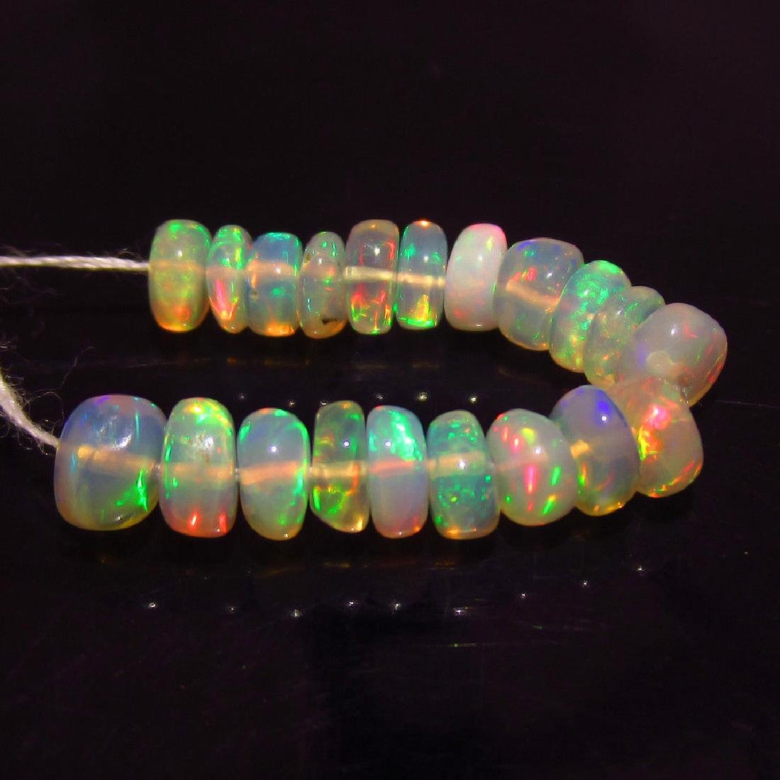 4.48 Ct Genuine 20 Drilled Multi-Color Fire Opal Beads - 2