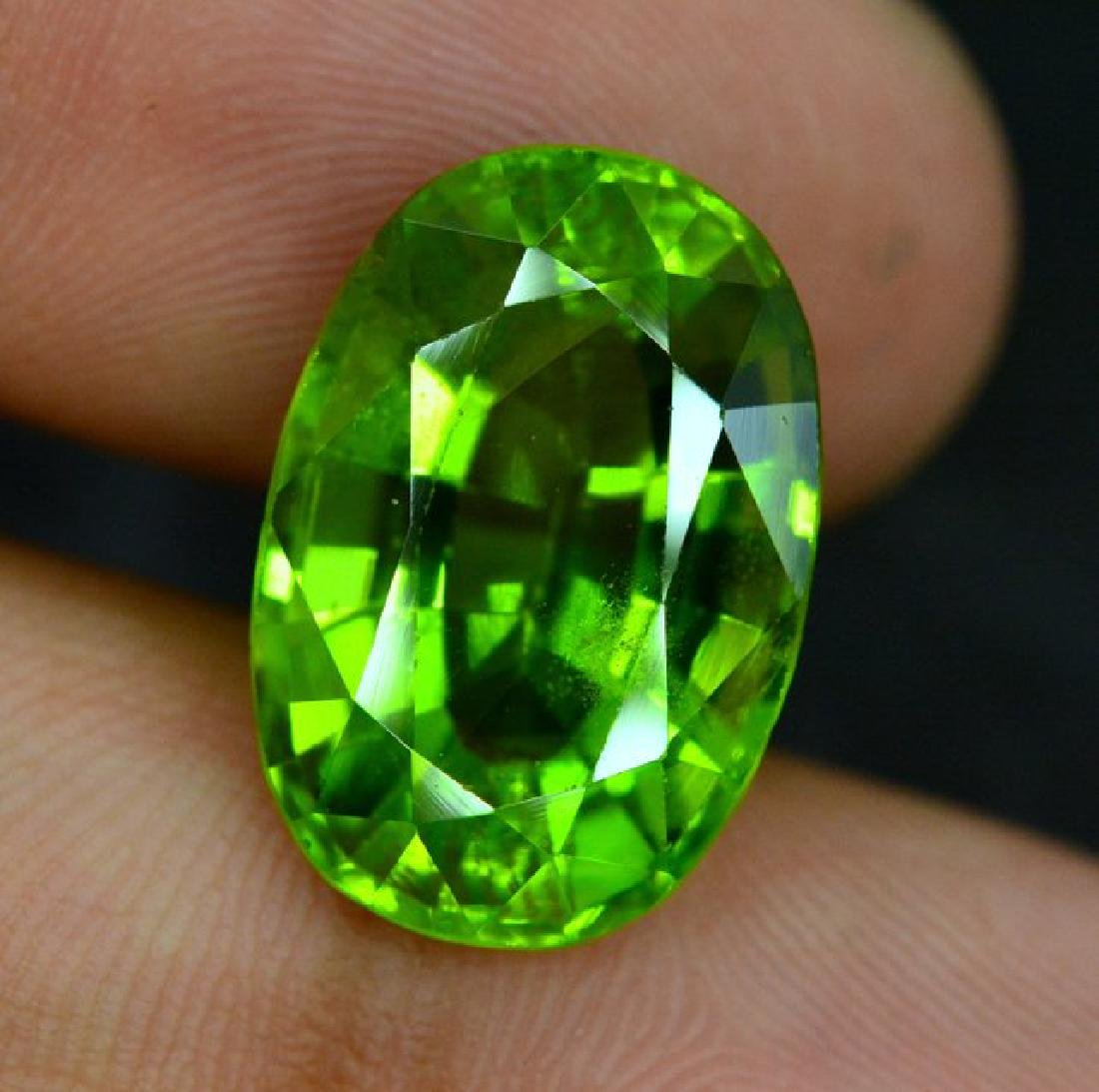 Certified 11.56 cts Round Cut Top Grade Natural Green - 4