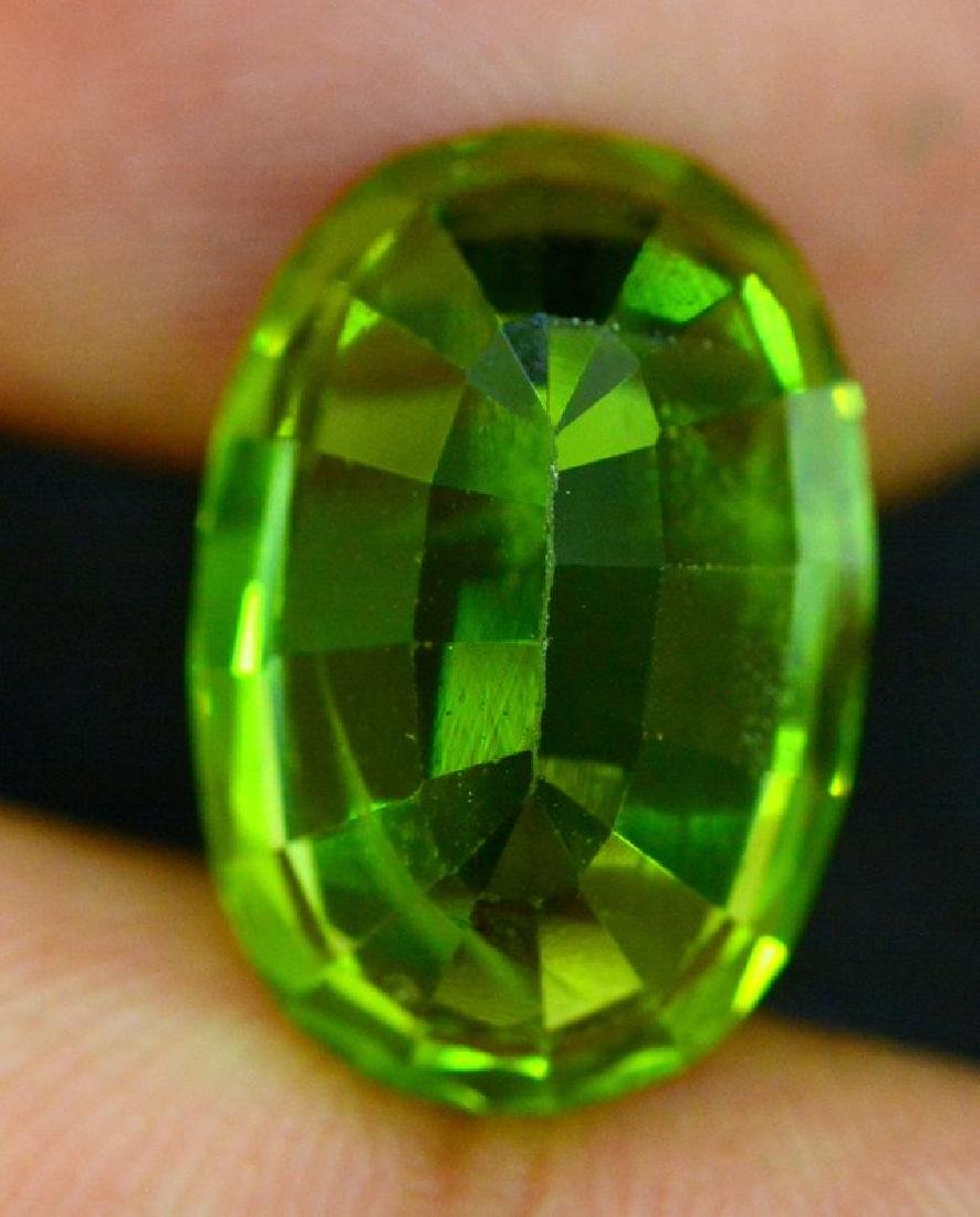 Certified 11.56 cts Round Cut Top Grade Natural Green - 7