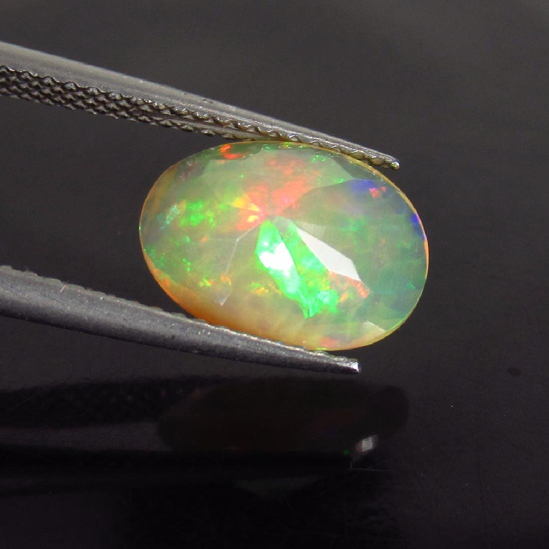 1.76 Ct Natural Ethiopian Faceted Opal Nice Oval Cut - 2
