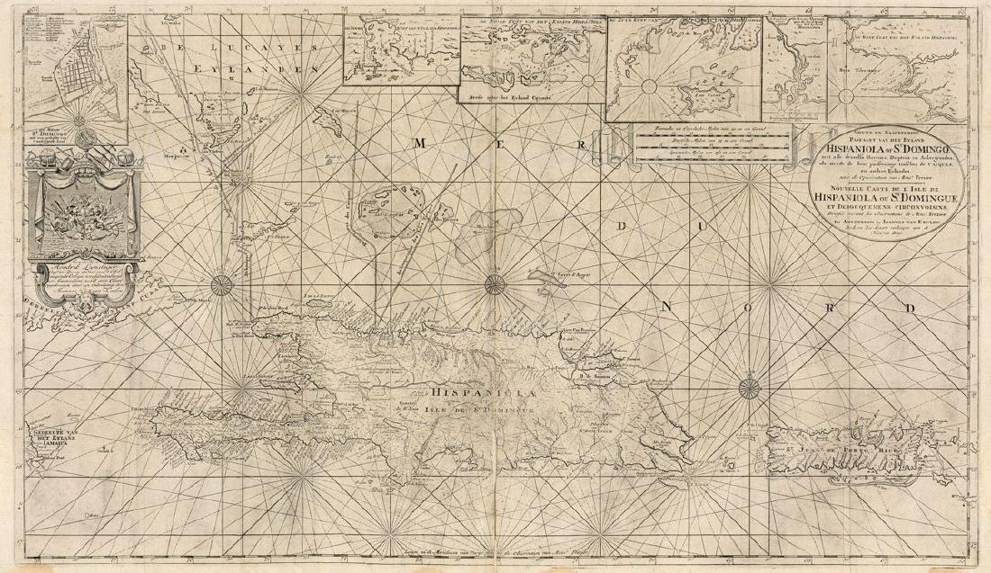 van Keulen: Grand Hispaniola & Puerto Rico Chart