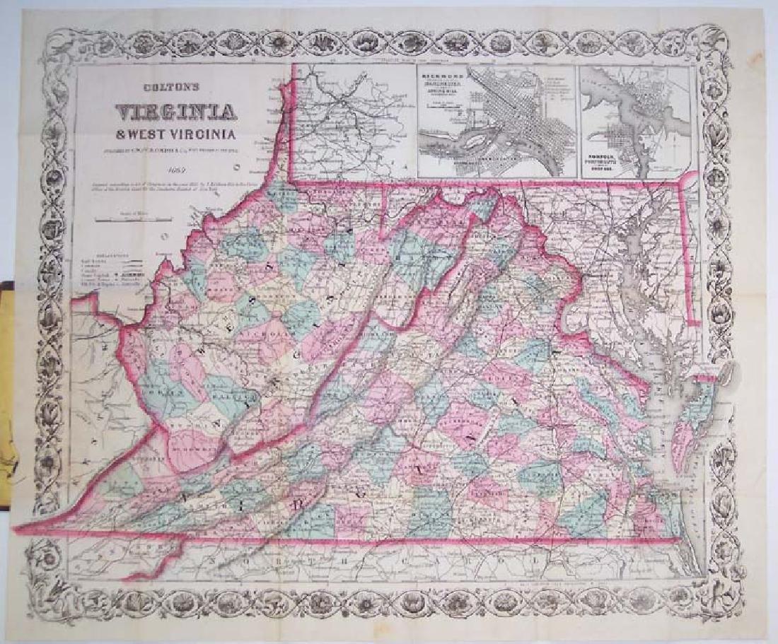 Colton's Virginia & West Virginia... 1869