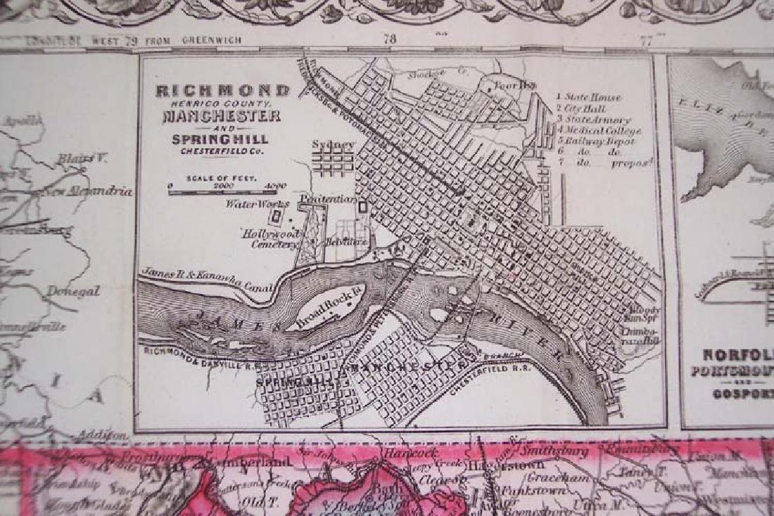 Colton's Virginia & West Virginia... 1869 - 2