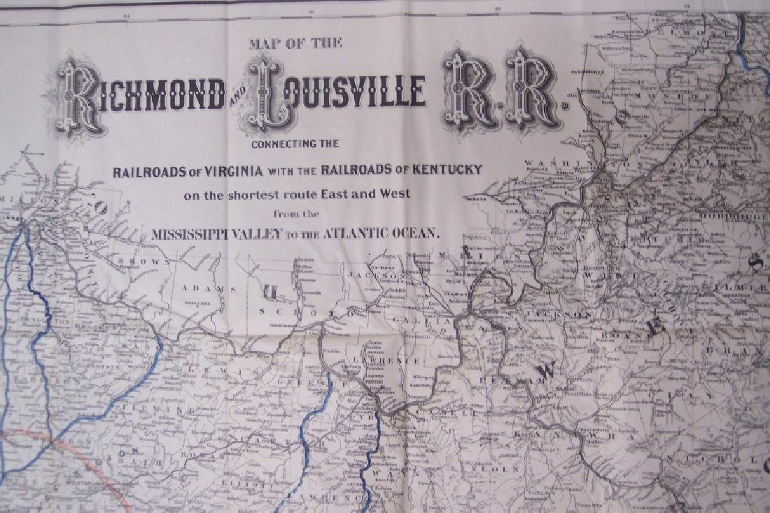 Map of the Richmond and Louisville RR Connecting the - 2