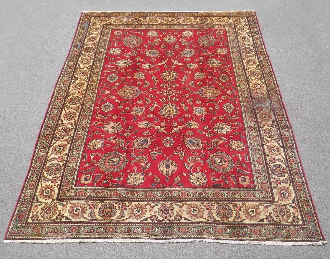 Semi Antique All-over Persian Tabriz Rug 10.4x7.5