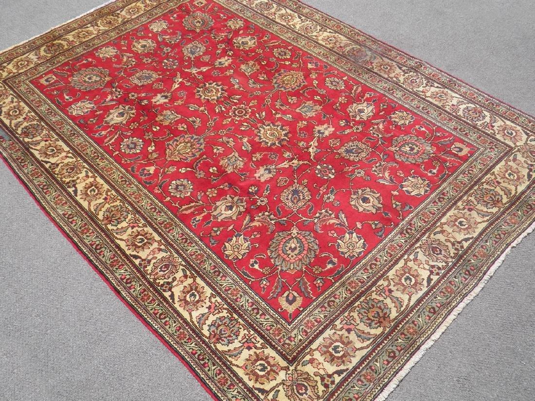 Semi Antique All-over Persian Tabriz Rug 10.4x7.5 - 2
