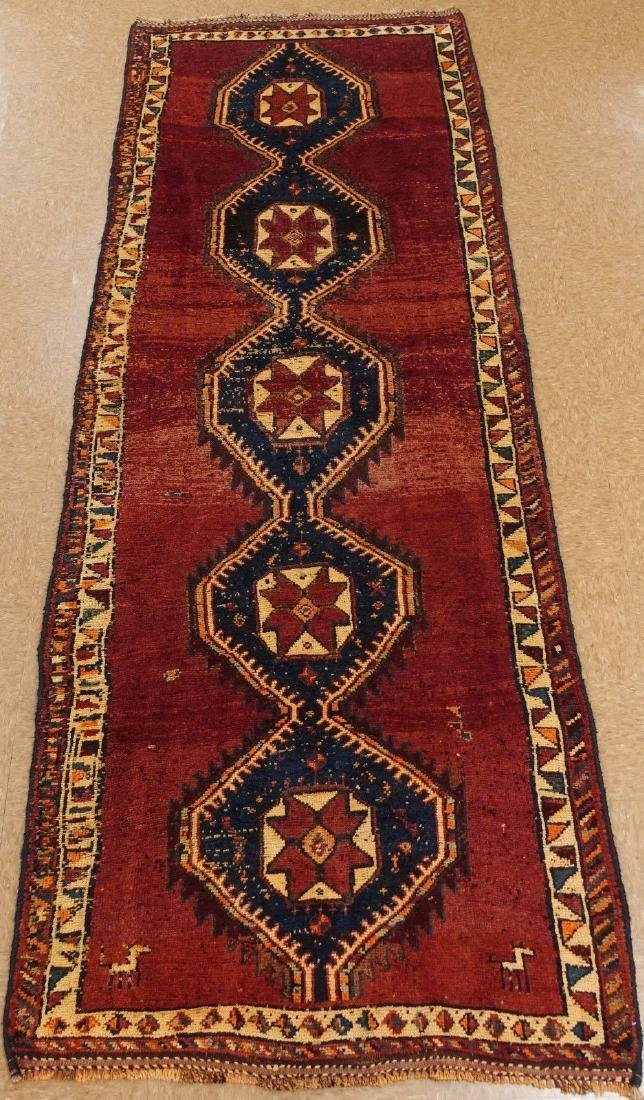 Persian Hamedan Tribal Hand Knotted Wool Glowing Rug