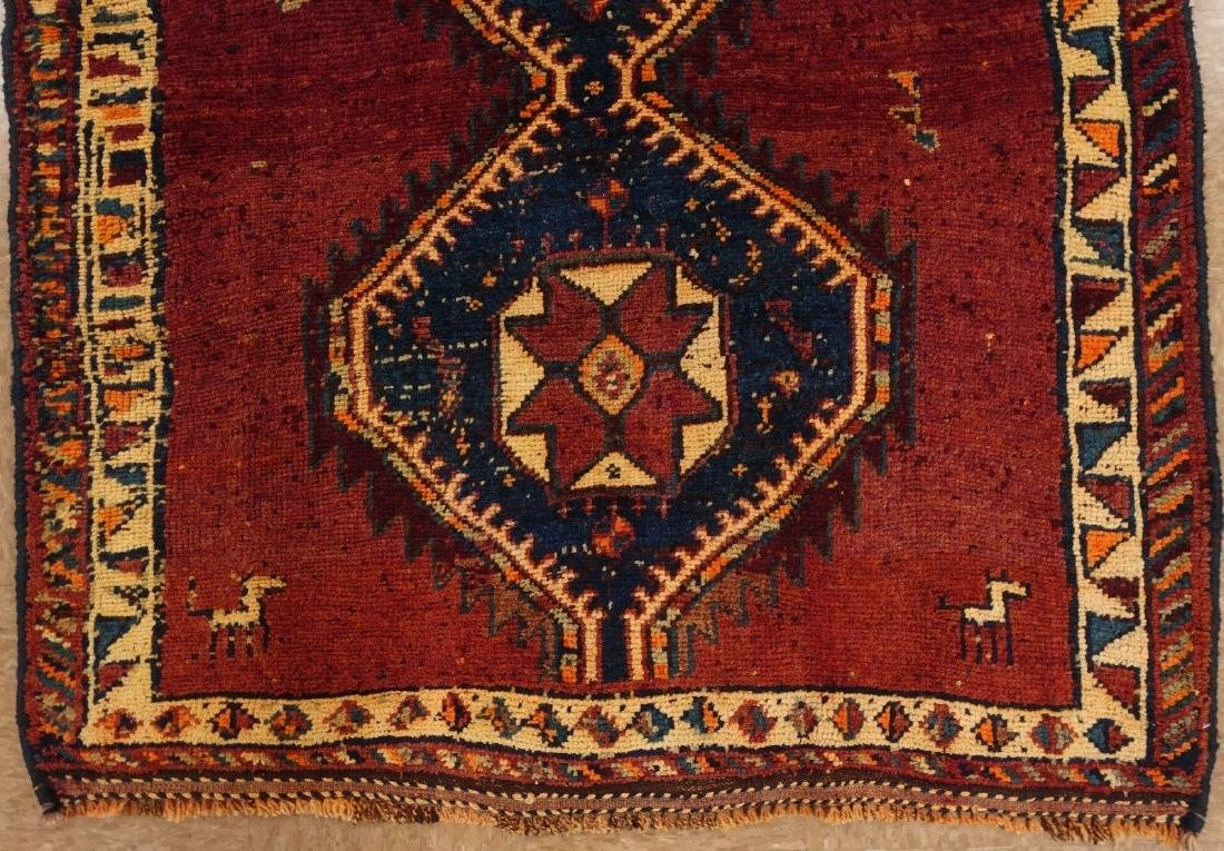 Persian Hamedan Tribal Hand Knotted Wool Glowing Rug - 3