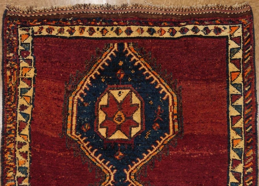 Persian Hamedan Tribal Hand Knotted Wool Glowing Rug - 5