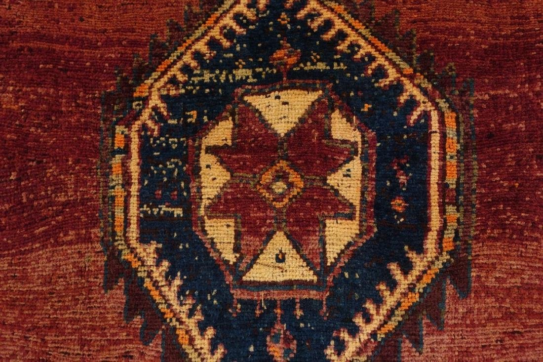 Persian Hamedan Tribal Hand Knotted Wool Glowing Rug - 6