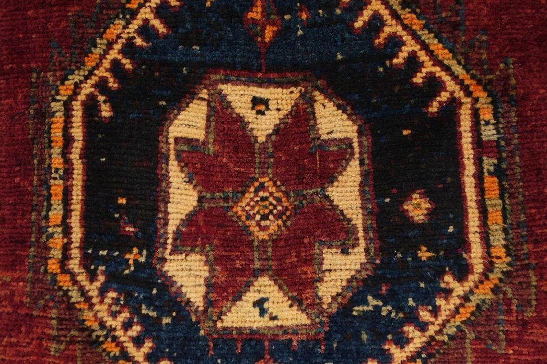 Persian Hamedan Tribal Hand Knotted Wool Glowing Rug - 7