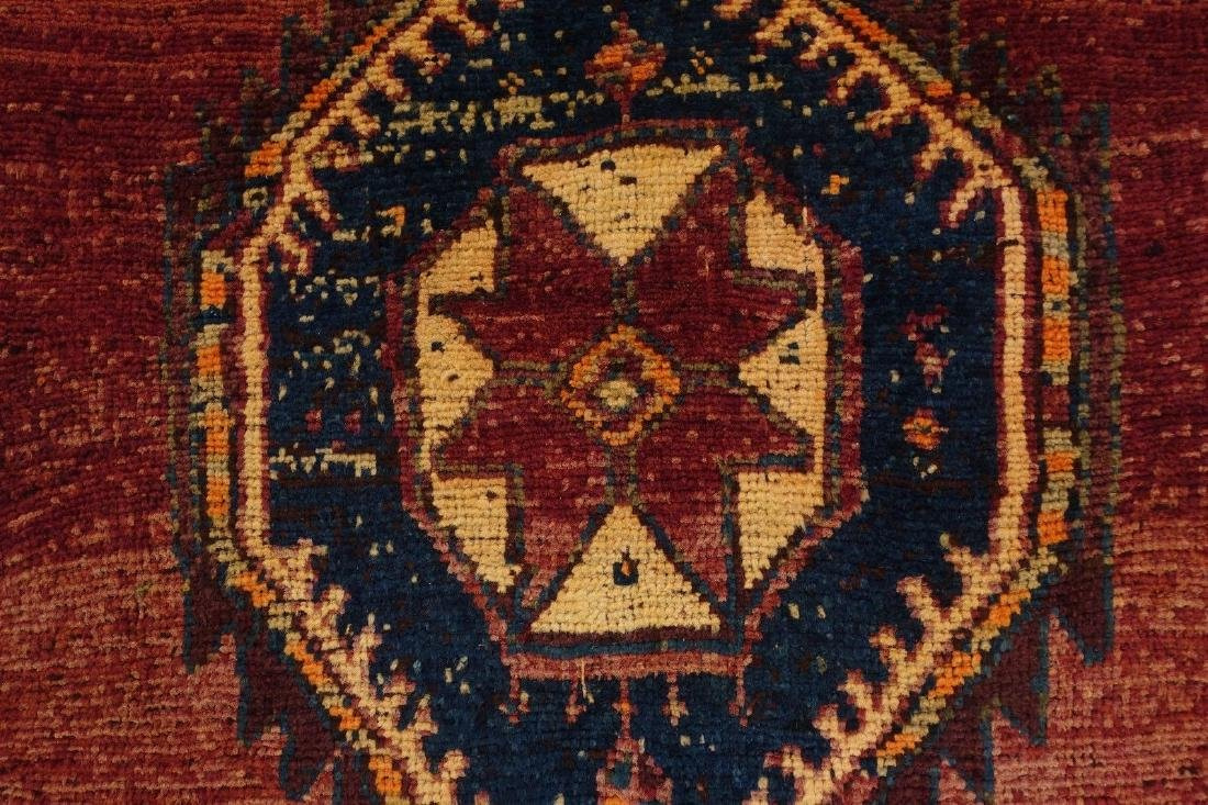 Persian Hamedan Tribal Hand Knotted Wool Glowing Rug - 9