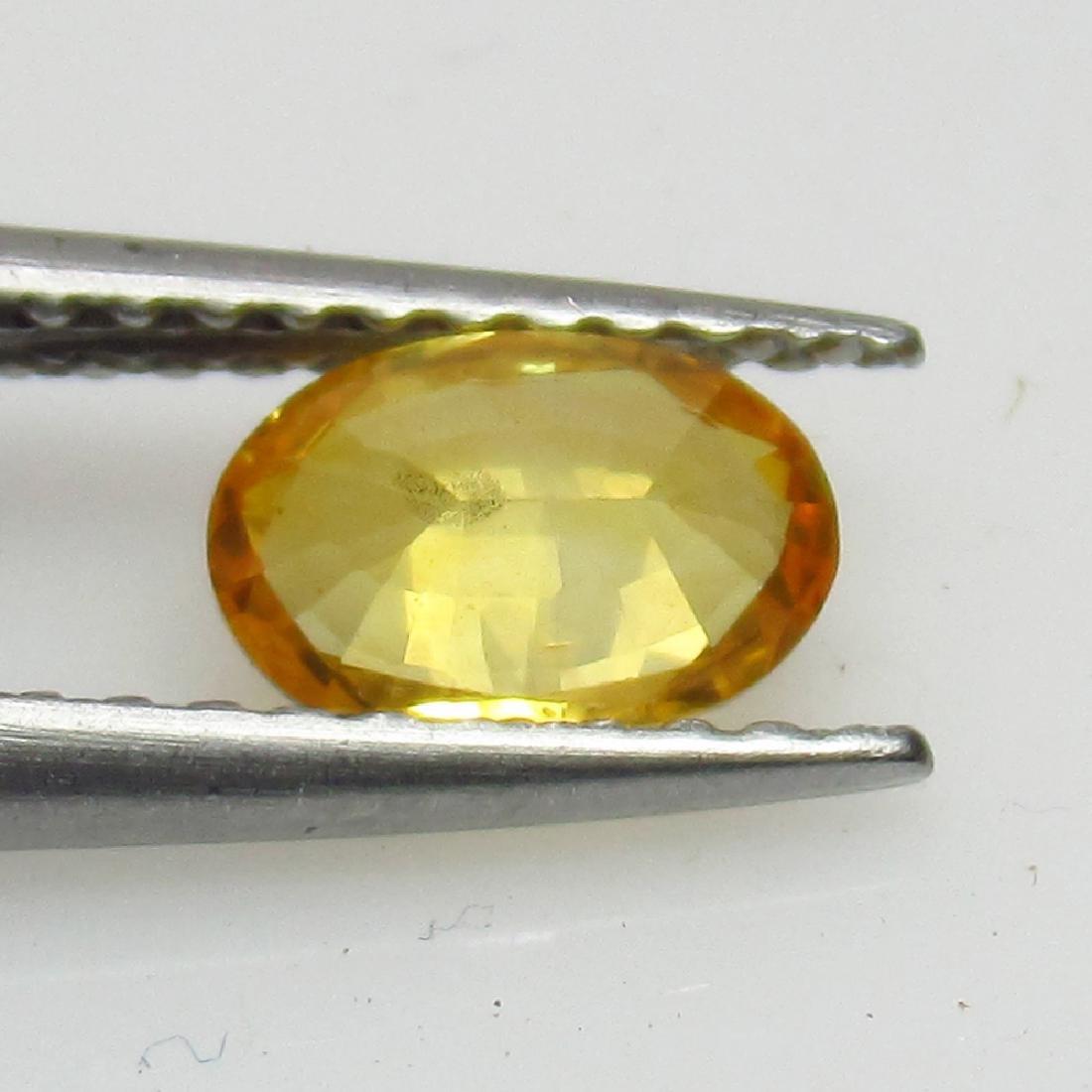 0.67 Ct Genuine Loose Ceylon Yellow Sapphire Top - 2