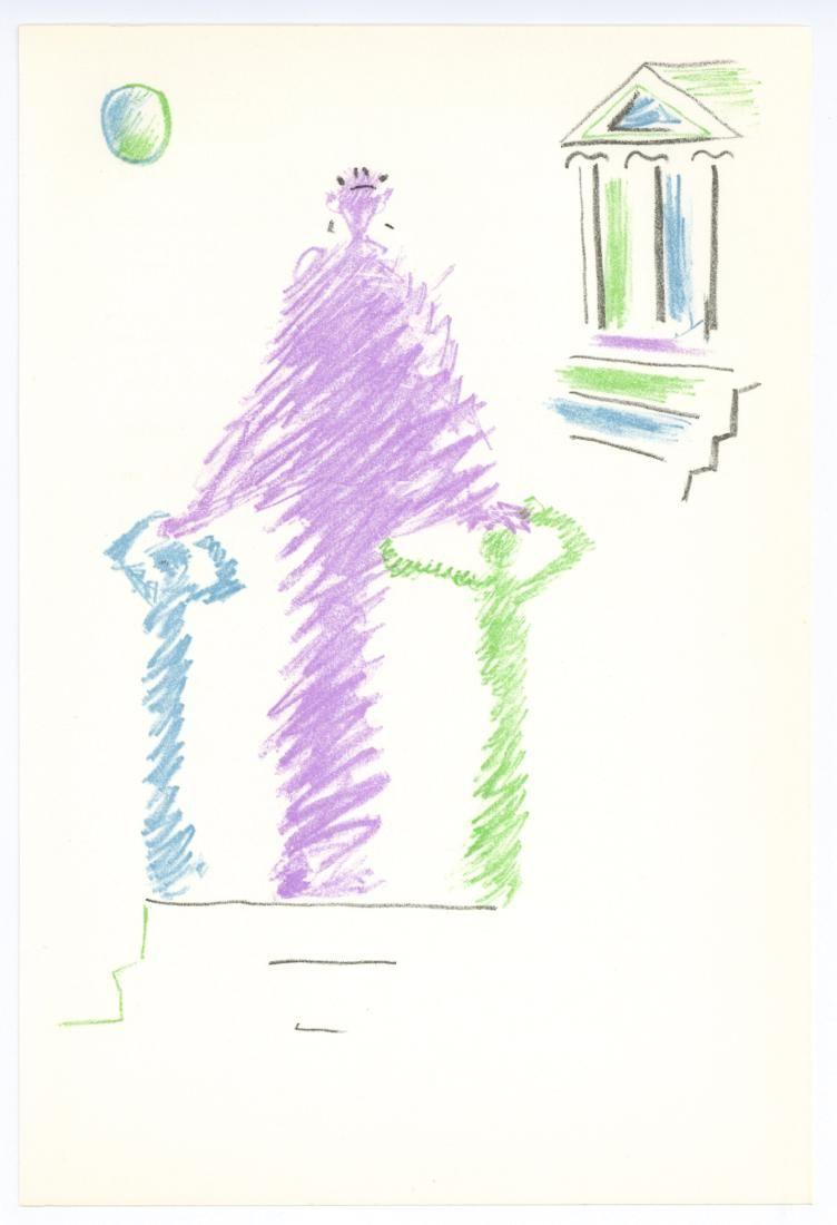 Jean Cocteau original lithograph Oedipus Rex