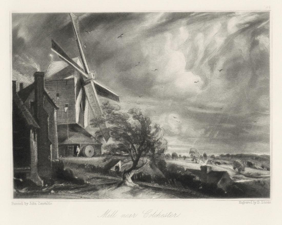 "Sir John Constable / David Lucas mezzotint ""Mill near"