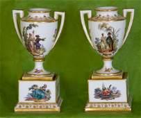 Royal Vienna (Bindenschild) Hand-Painted Porcelain Pair