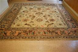 MUSEUM AGE SQUARE SIZE PERSIAN SULTANABAD MAHAL RUG