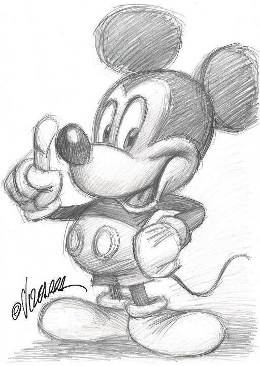 Original Drawing - Mickey Mouse on