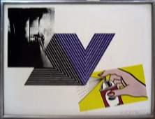 Richard Pettibone Print Warhol, Stella, Lichtenstein