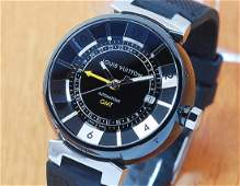 Louis Vuitton LV Tambour GMT Automatic Men's Watch!