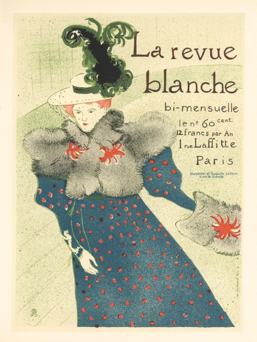 """Toulouse-Lautrec lithograph poster """"La revue blanche"""""""