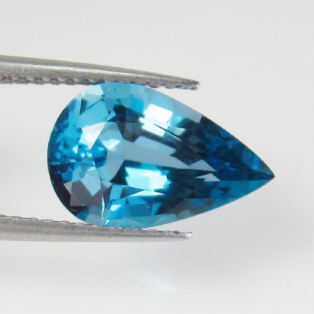 3.38 Ctw IGI Certified Natural London Blue Topaz Pear