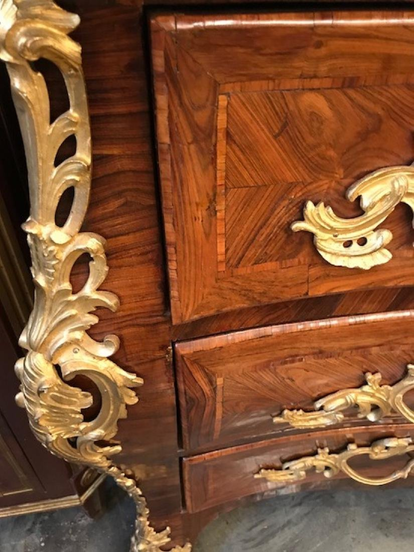 18thcentury French period Regence marble top commode - 2