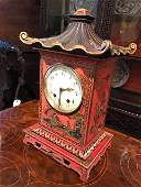 A early 20th century French Orientalist mantle clock