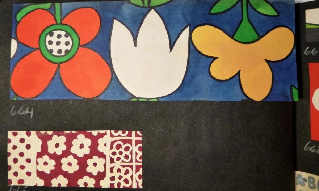 Hand Painted  Pop Art Textile Pattern Design Scrapbook- - 3