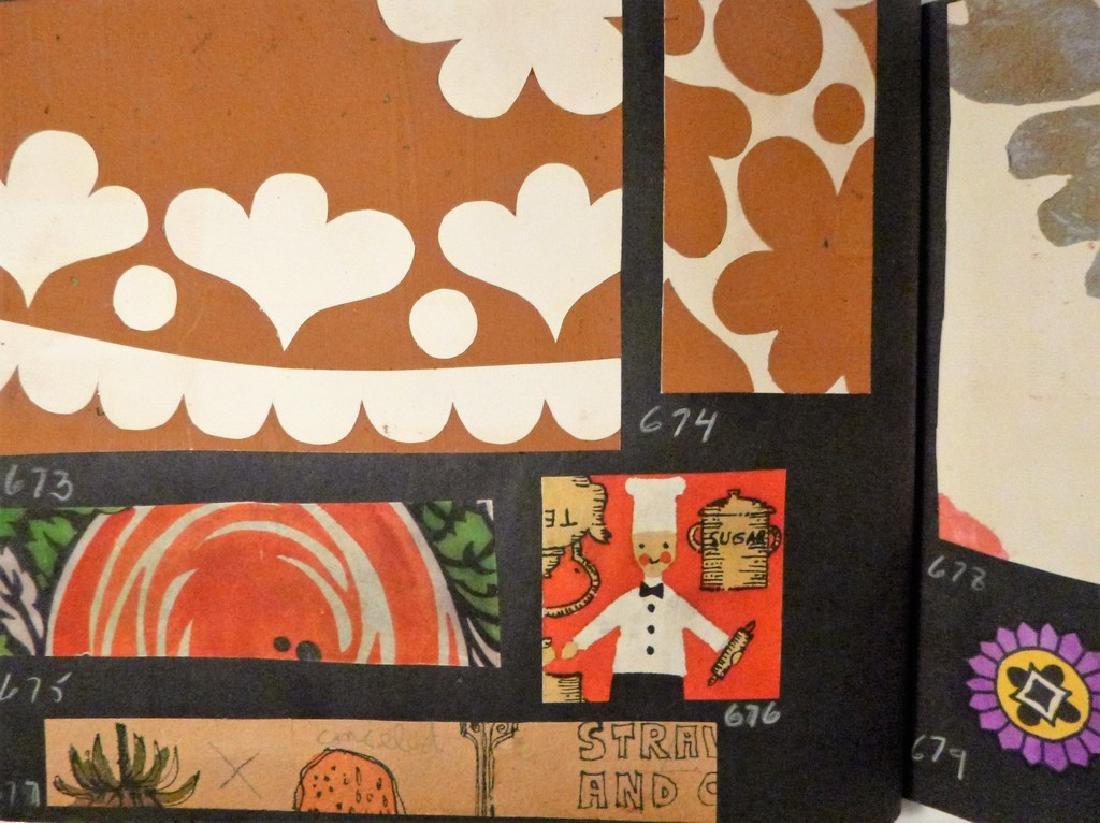 Hand Painted  Pop Art Textile Pattern Design Scrapbook- - 4