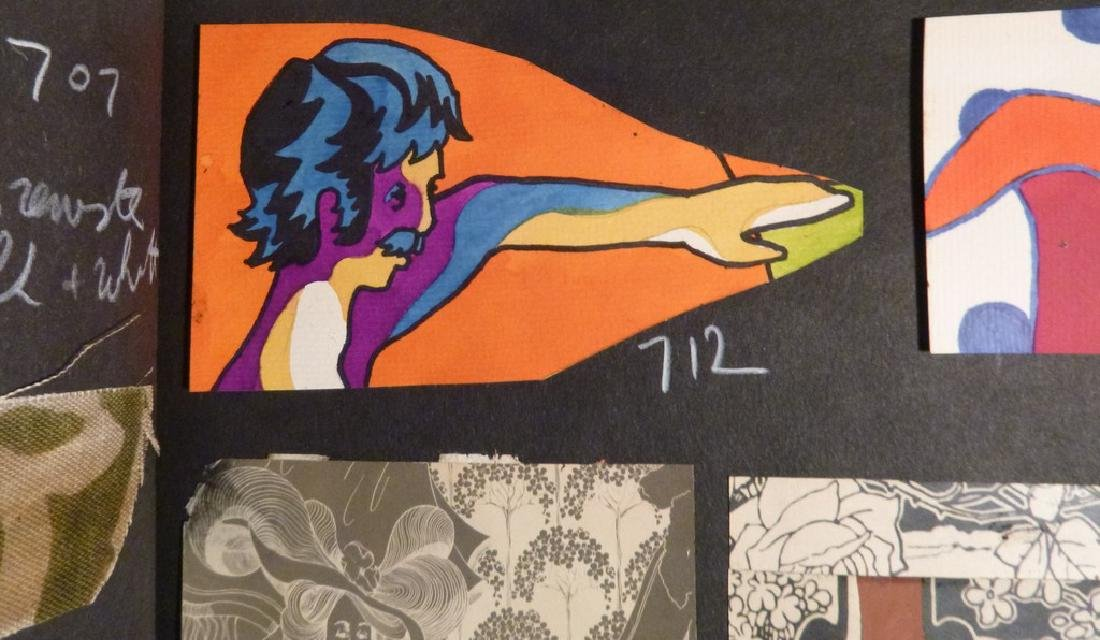 Hand Painted  Pop Art Textile Pattern Design Scrapbook- - 5