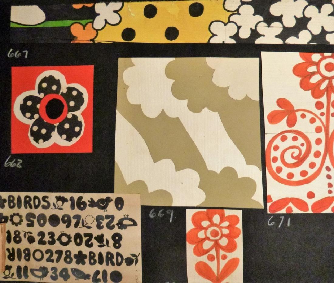 Hand Painted  Pop Art Textile Pattern Design Scrapbook- - 6