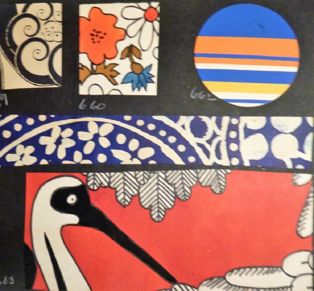 Hand Painted  Pop Art Textile Pattern Design Scrapbook- - 7