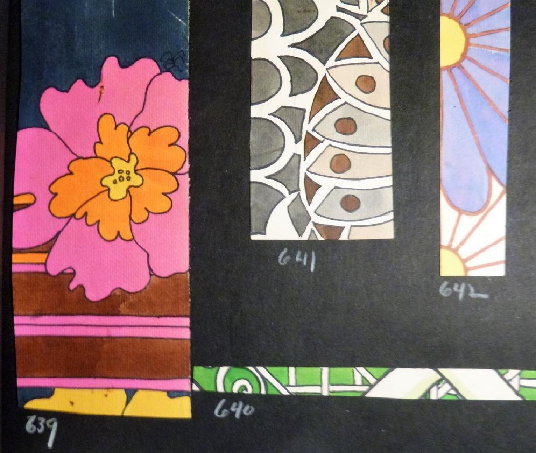 Hand Painted  Pop Art Textile Pattern Design Scrapbook- - 8