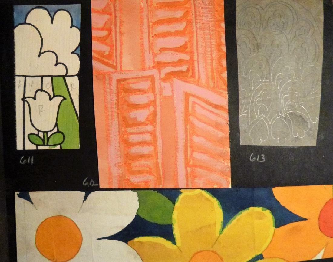 Hand Painted  Pop Art Textile Pattern Design Scrapbook- - 9