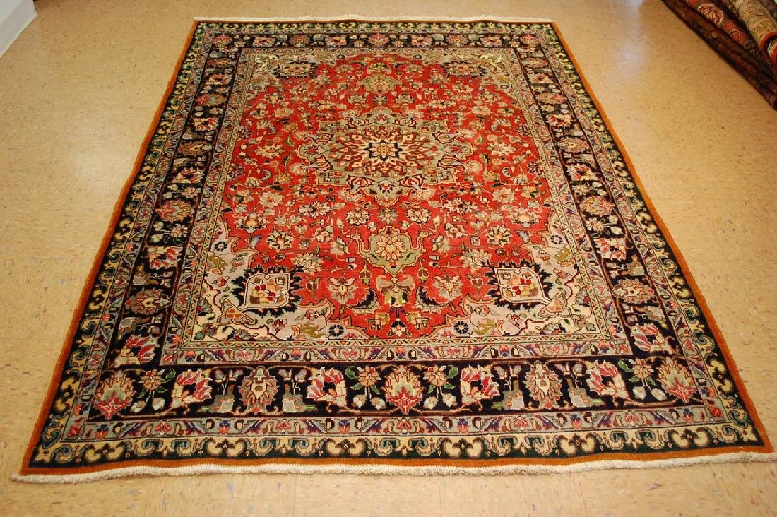 HIGHLY DETAILED PERSIAN TABRIZ RUG 5.7x7.9 MUST SEE TO
