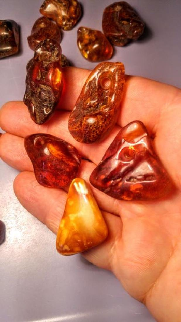 100% genuine Baltic amber pendants - 3